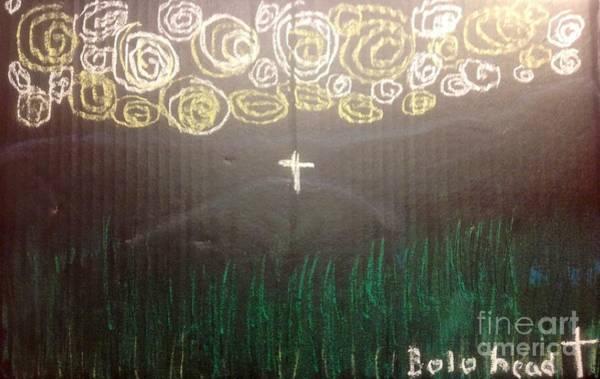 Paris Hilton Drawing - Cross On The Mountain by Willard Hashimoto