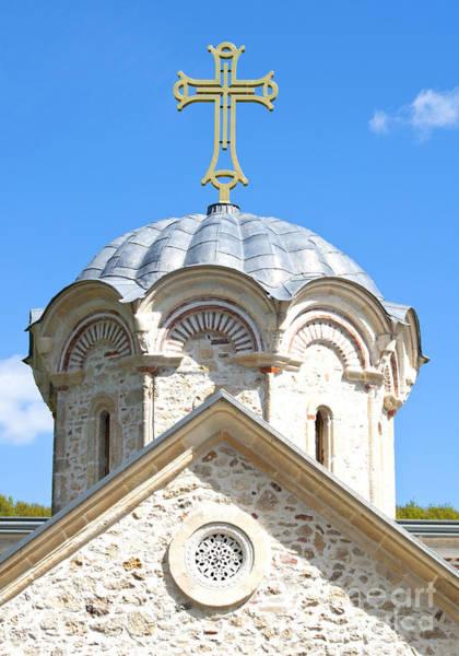 Ortodox Wall Art - Photograph - Cross On The Top Of Old Church  by Aleksandar Mijatovic