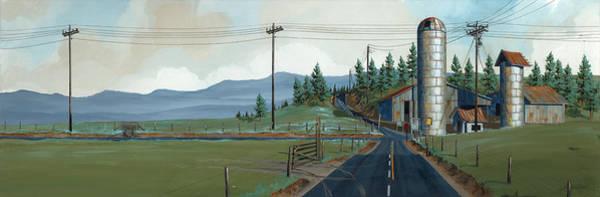 Silo Painting - Cross Roads by John Wyckoff