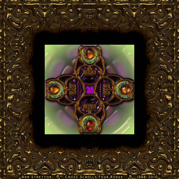 Digital Art - Cross Scrolls Four  by Ann Stretton