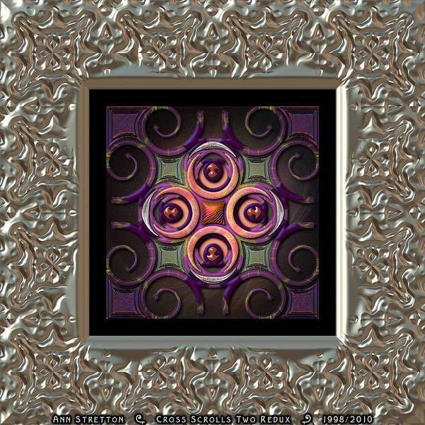 Digital Art - Cross Scrolls Two  by Ann Stretton