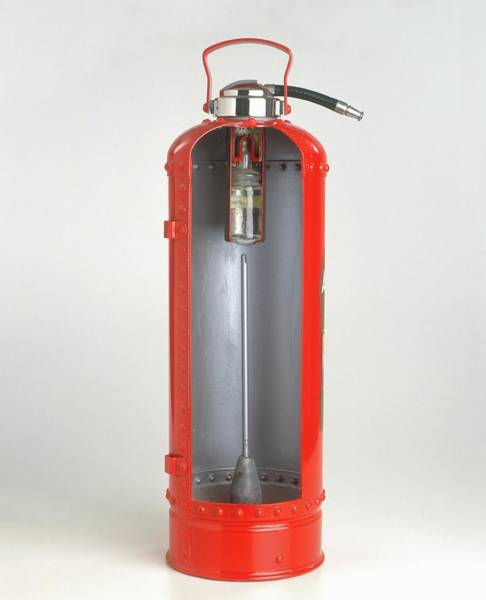 Cross-section Photograph - Cross-section Of A Fire Extinguisher by Dorling Kindersley/uig