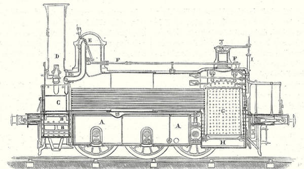 Locomotive Drawing - Cross Section Of The Locomotive That Is Used by English School