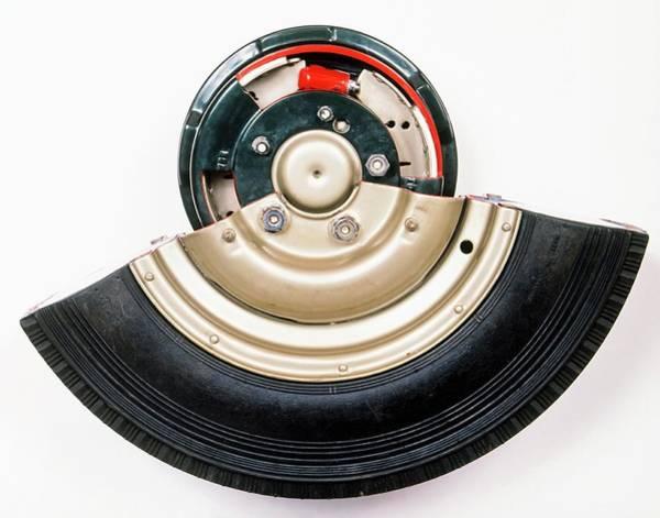 Brake Wall Art - Photograph - Cross-section Of Wheel Showing Drum Brake by Dorling Kindersley/uig