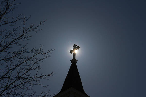 Photograph - Cross Silhouette  by Kirkodd Photography Of New England
