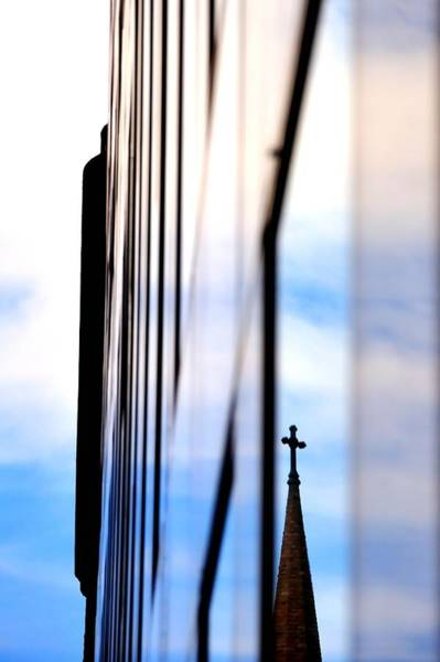 Photograph - Cross Spire 5077 by Jerry Sodorff