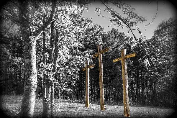 Triple Falls Photograph - Crosses by Debra and Dave Vanderlaan