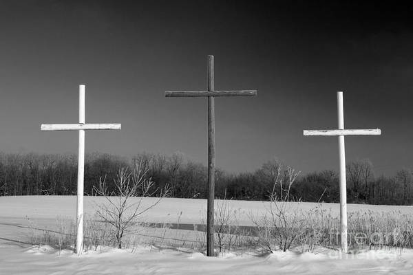 Photograph - Crosses In Snow by Jim West