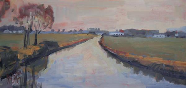 Crossing Hoofdwetering Vamerenweg Art Print