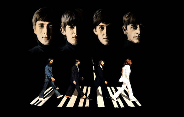 Painting - Crossing Into History The Beatles  by Iconic Images Art Gallery David Pucciarelli