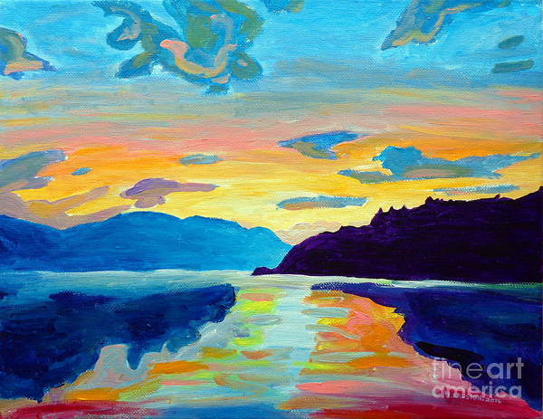 Okanagan Valley Painting - Crossing Lake Okanagan by Morgan  Ralston