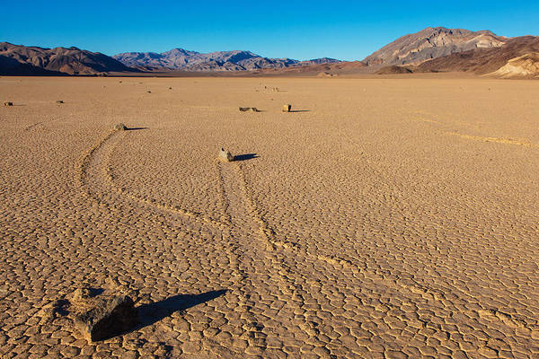 Racetrack Playa Photograph - Crossing Paths  by James Marvin Phelps