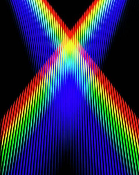 Photograph - Crossing Spectra Of Coloured Light by David Parker