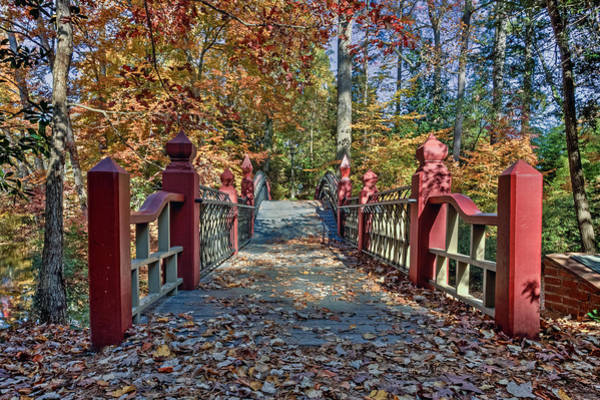 Photograph - Crossing The Crim Dell Bridge II by Jerry Gammon