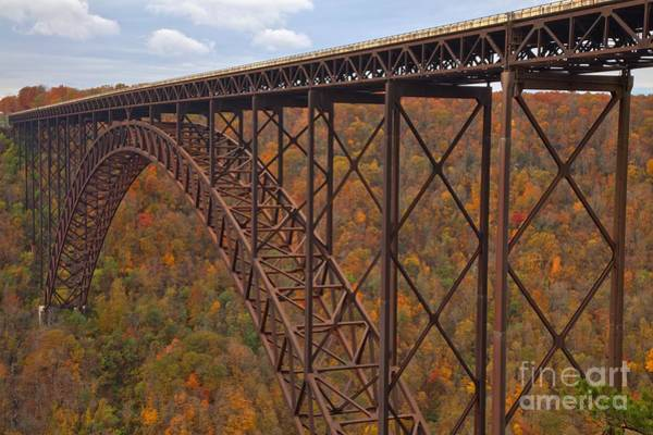Photograph - Crossing The New River Gorge by Adam Jewell