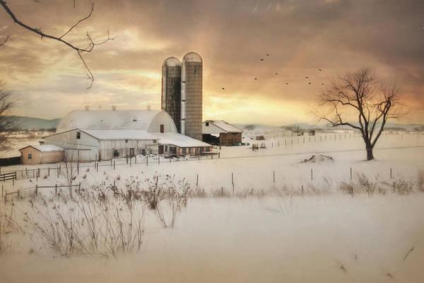 Pennsylvania Barn Photograph - Crossroads Sunset by Lori Deiter