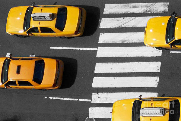 Yellow Taxi Photograph - Crosswalk by Dan Holm