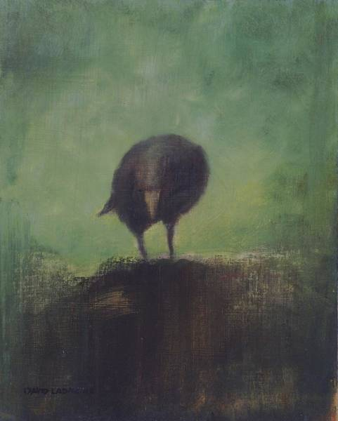 Daring Painting - Crow 12 by David Ladmore