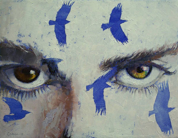Surrealistic Painting - Crows by Michael Creese