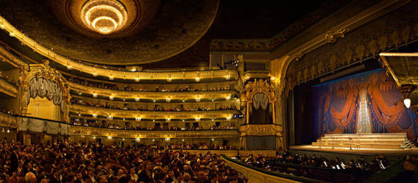 St. Petersburg Photograph - Crowd At Mariinsky Theatre, St by Panoramic Images