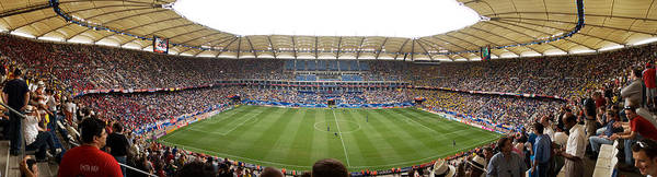 Wall Art - Photograph - Crowd In A Stadium To Watch A Soccer by Panoramic Images