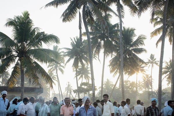 Candid Photograph - Crowd Of Men Kerala, India by Gary John Norman