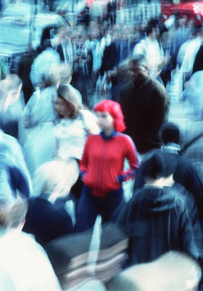 One In A Million Photograph - Crowded Street by Annabella Bluesky/science Photo Library