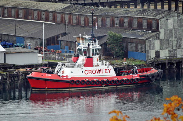 Fireboat Wall Art - Photograph - Crowley Tugboat by Tikvah's Hope