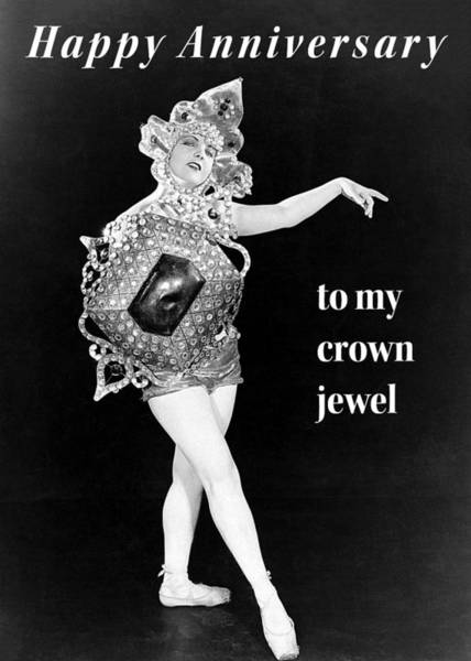 Wall Art - Photograph - Crown Jewel Anniversary Greeting Card by Communique Cards