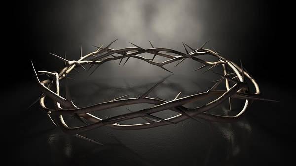 Christianity Digital Art - Crown Of Thorns by Allan Swart