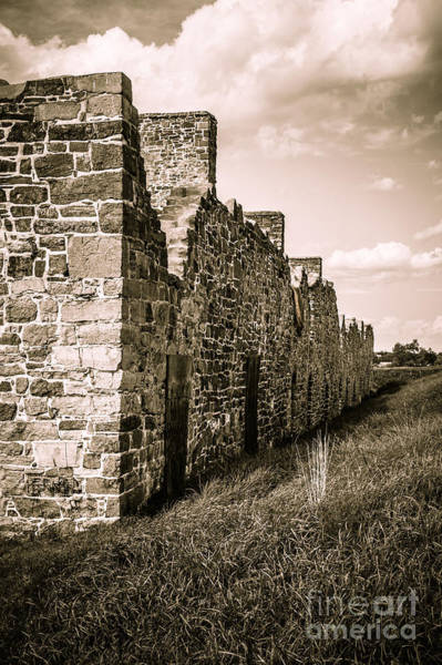 Photograph - Crown Point New York Old British Fort Ruin by Edward Fielding