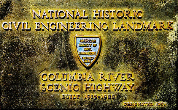 Thompson River Photograph - Columbia River S H Plaque by David Lee Thompson