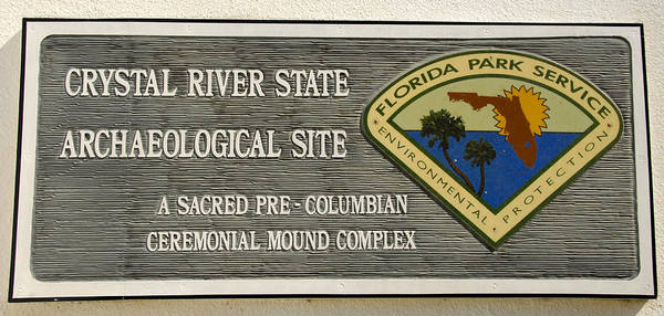 Thompson River Photograph - Crystal River Entrance Sign by David Lee Thompson