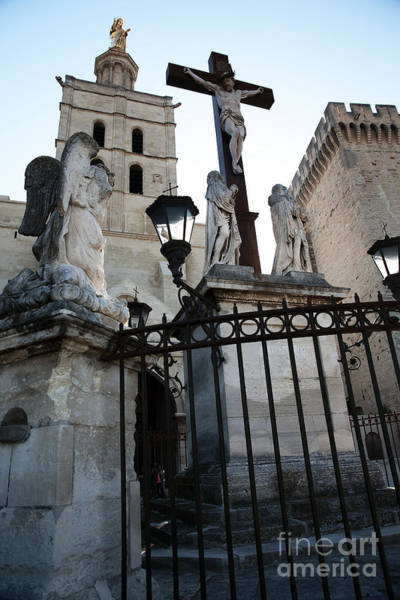 Photograph - Crucifix At The Papal Palace by John Rizzuto