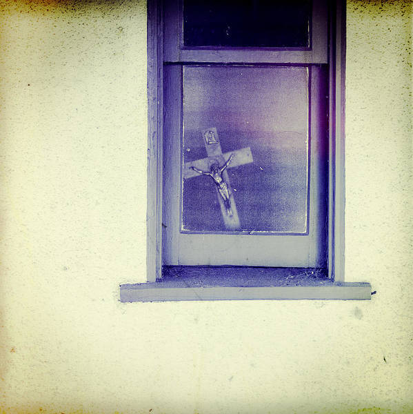 Holy Spirit Photograph - Crucifix In A Window by YoPedro