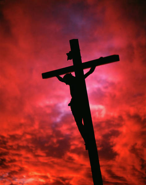 Rood Wall Art - Photograph - Crucifixion Jesus Christ On The Cross by Vintage Images