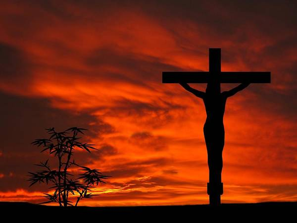 Dehner Photograph - Crucifixion Sunset Silhouette Series by David Dehner