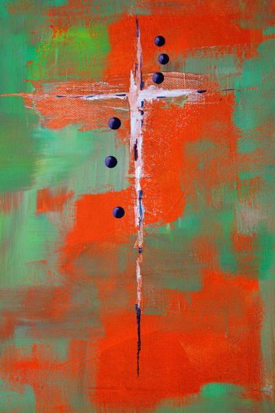 Dark Green Painting - Cruciform 2 by Nancy Merkle
