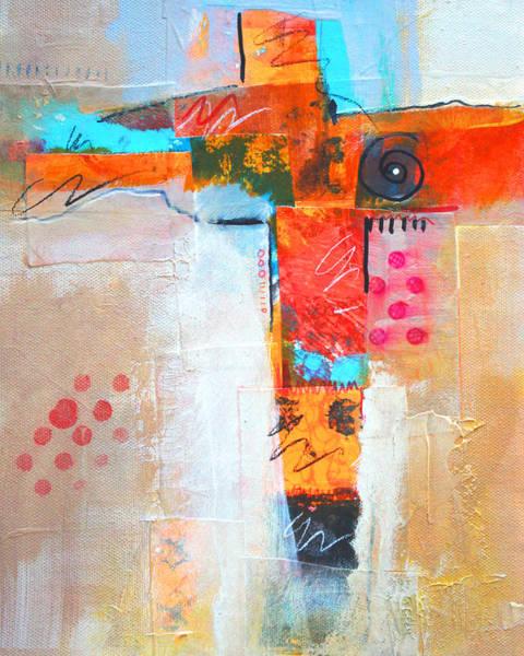 Scribble Painting - Cruciform 3 by Nancy Merkle