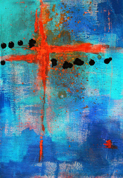 Balance Painting - Cruciform Abstract by Nancy Merkle