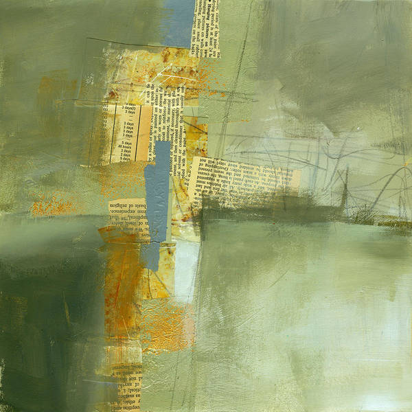 Paint Painting - Cruciform Study Neutral by Jane Davies