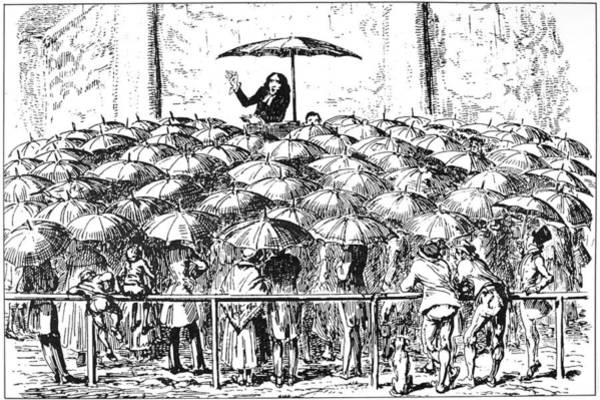 Painting - Cruikshank Umbrellas by Granger