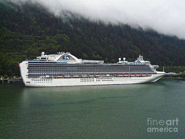 Princess Cruise Lines Photograph - Cruise Ship In Alaska by Howard Stapleton