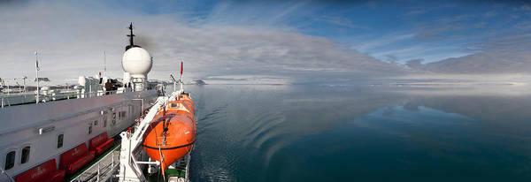 Lifeboat Photograph - Cruise Ship, Ms Expedition, Hinlopen by Panoramic Images