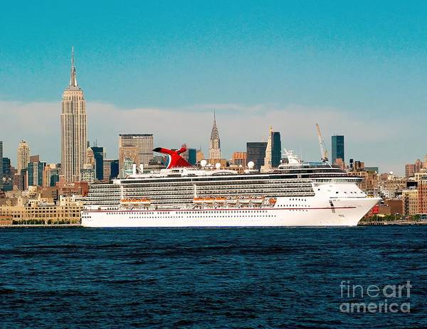 Photograph - Cruise Ship On The Hudson by Nick Zelinsky