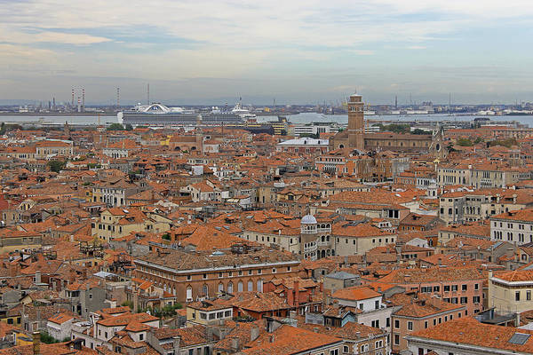 Photograph - Cruise Ship Overlooking Venice by Tony Murtagh