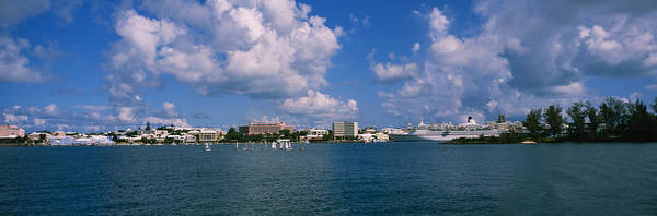 Sea Of Serenity Photograph - Cruise Ships Docked At A Harbor by Panoramic Images