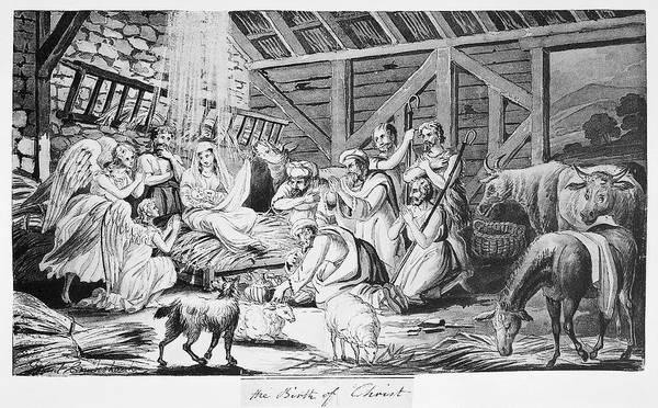 Wall Art - Drawing - Cruishank Birth Of Christ by Granger