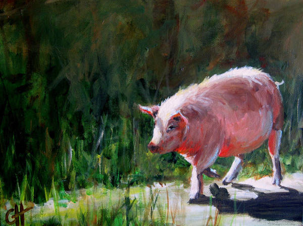 Barnyard Animal Painting - Cruisin by Cari Humphry