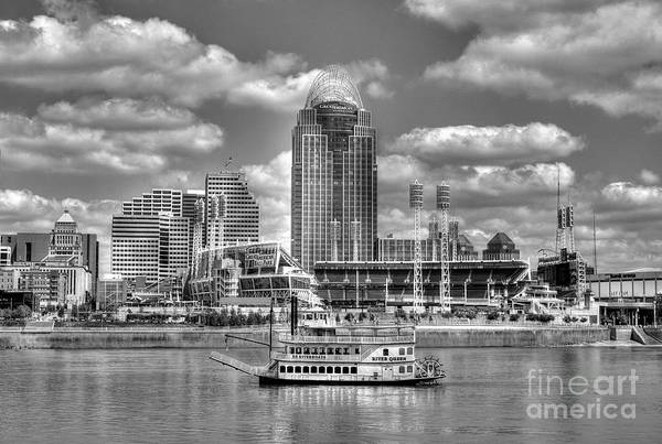 Photograph - Cruising By Cincinnati 4 Bw by Mel Steinhauer